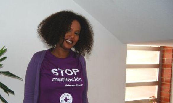 Hodan Sulaman, mediadora de Médicos del Mundo en temas de Mutilación Genital Femenina. (Foto: Ana Goñi)
